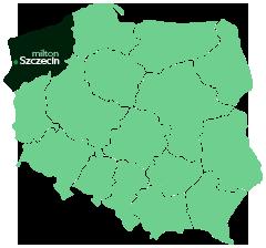 Mapka, Szczecin - Milton