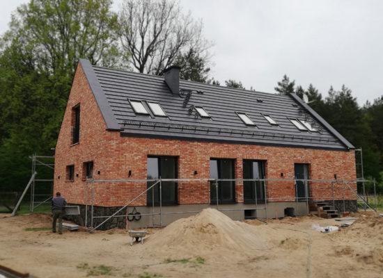 Elewacja z cegły rozbiórkowej zaimpregnowana hydrofobowo Dynasilem KLINKIER